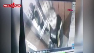 Asansörde boş damacanaya idrarını yaptı